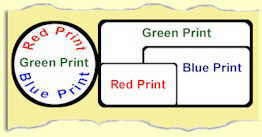 Colour Range: Red, Blue or green print on a range of white labels